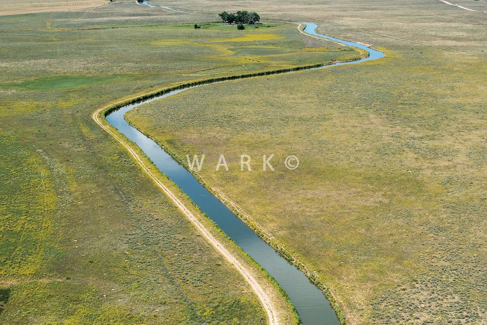 Irrigation ditch. Adams County, Colorado. Aug 2014,  812934
