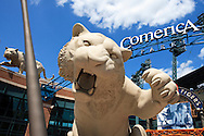July 12, 2009: Comerica Park during the MLB game between Cleveland Indians and Detroit Tigers at Comerica Park, Detroit, Michigan.  TIgers defeated the Indians 10-1.