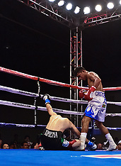 Roman 'Chocolatito' Gonzalez TKO Ramon 'Principe' Garcia in Fourth Round.