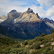 The Horns (Los Cuernos) stand watch over the French Valley, Torres del Paine National Park, Chile.