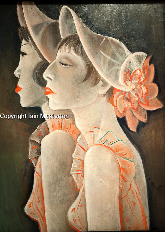 Painting the  Revue Girls by Jeanne Mammon at Berlinische Galerie modern art museum in Berlin Germany