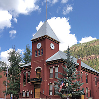 USA: Colorado: Telluride: The historic San Miguel County Courthouse, on Colorado Avenue at Oak Street in Telluride, Colorado.