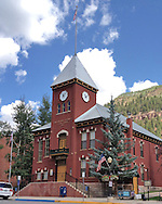 USA: Colorado: Telluride: The historic San Miguel County Courthouse, on Colorado Avenue at Oak Street in Telluride, Colorado.