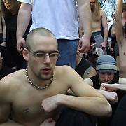 "Maggots, fans of the heavy metal rock band Slipknot, were instructed to stay still, close their eyes and breathe heavily while they grimaced during a Slipknot video shoot in West Des Moines, Iowa. ""You have to be thinking pure ... insanity in your head,"" director Tony Petrossian said.  The video was shot in March of 2004."