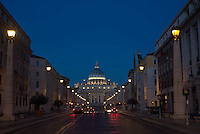 The road leading to Vatican Square