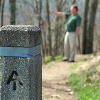 Man, Walking on the Appalachian Trail, Shenandoah Valley, Virginia