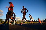 CAPE TOWN, SOUTH AFRICA - OCTOBER 08: Lebogang Shange of CGA (261) in the senior mens 20km during the ASA 50km and Interprovincial Race Walking Championships at Youngsfield Military base on October 08, 2016 in Cape Town, South Africa. (Photo by Roger Sedres/Gallo Images)