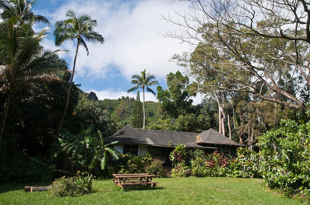 Old Hawaiian style house, Kualoa, Oahu, Hawaii