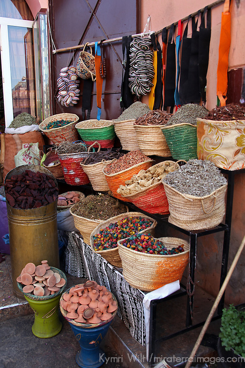 Africa, Morocco, Marrakech. Spices of the mellah of Marrakech.
