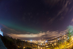 The Northern Lights, Aurora Borealis, as seen tonight from the esplanade at Stirling Castle, just before 10pm. Picture taken with a 30 second exposure.