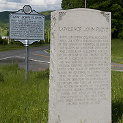 Governor John Floyd Monument and House. Rowan Memorial Home, Sweet Springs, West Virginia May 2011