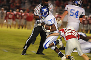 Water Valley's Elijah Rogers (9) runs vs. South Pontotoc in Pontotoc, Miss. on Friday, October 7, 2011. Water Valley won 49-7.