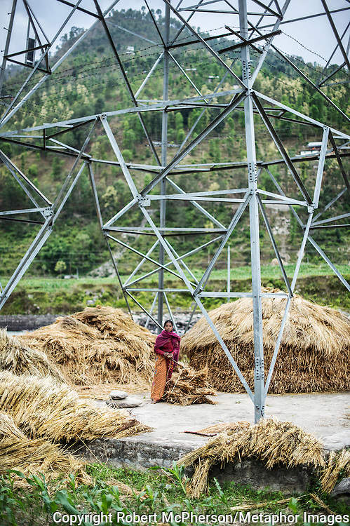The power grid is useful as a place to store hay for the Khadka family. Nepal is the second richest country in water resource but they still meet challenges with building hydropower. Everyday electric current goes off for hours and people are compelled to live in the darkness. Norway is one of the countries who have earned a lot of money on building hydropower in Nepal, but the country itself still remains poor and undeveloped. After the earthquakes that struck Nepal in 2015 the situation is even worse.