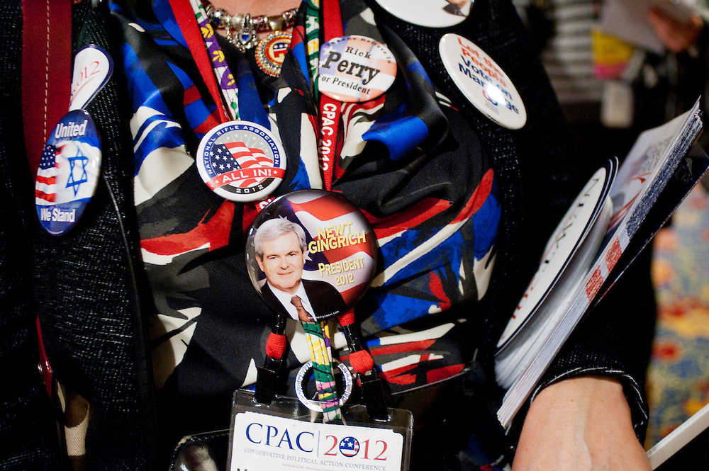 General scenes at the annual Conservative Political Action Conference (CPAC) in Washington, D.C. on Thursday. CPAC, which began in 1973, attracts more than 10,000 people and The American Conservative Union, which runs it, announced it expected 1,200 members of the media.
