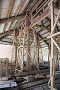 Restoration work on a building in the Forbidden Purple City, Hue Citadel / Imperial City, Hue, Vietnam