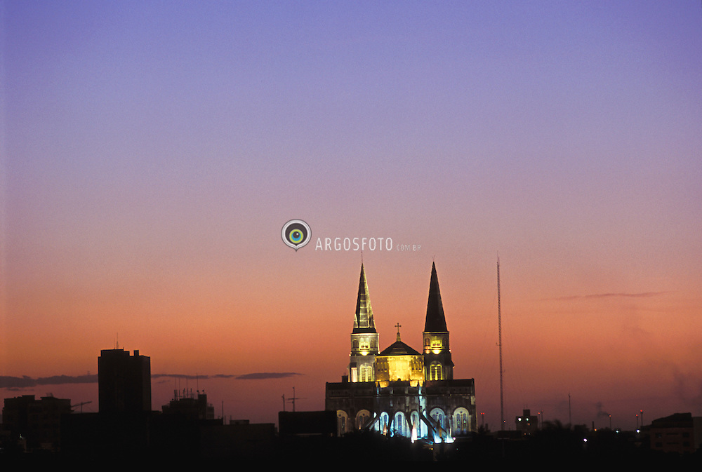 The Metropolitan Cathedral of Fortaleza. Fortaleza (Portuguese for fortress, is the state capital of Ceara, located in northeastern Brazil. the design was by French architect George Mounier. /  Catedral Metropolitana de Fortaleza