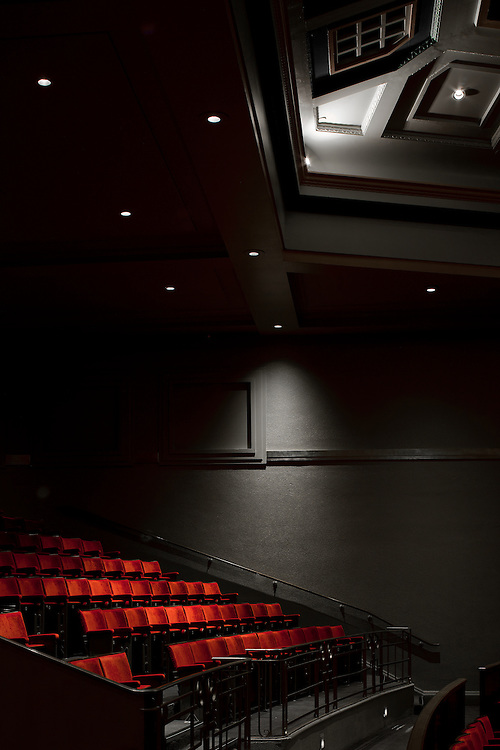 peoples palace, st mary's university, london, england, uk, theatre, auditorium, seating lights, stage