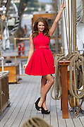2/7/2011.Waterford'sLisa Kavanagh pictured on board the Christian Radich at the Tall Ships Festival sporting a BB Dakota Autumn collection dress from Redlane boutique in Tramore Co Waterford priced at EUR129.Picture Dylan Vaughan