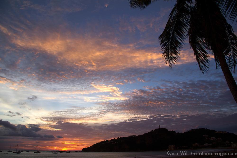 Central America, Nicaragua, San Juan del Sur. Sunset Sky at San Juan del Sur.