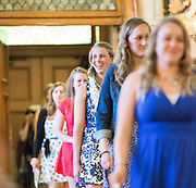 Graduating students make a procession into St, Aloysius Church for their graduation ceremony (also called a Pinning ceremony). (Photo by Gonzaga University)