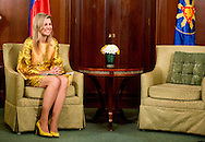 30-6-2015 MANILLA - Queen Maxima  meet president Benigno S. Aquino III at the Malacanang Palace . Queen Maxima during a three-day visit to the Philippines, as a special advocate of the Secretary-General of the United Nations. Queen Máxima visits in her capacity as special advocate of the Secretary-General of the United Nations for inclusive finance for development (inclusive finance for development). COPYRIGHT ROBIN UTRECHT