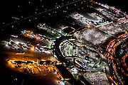 New York City: LaGuardia International Airport, seen at night from a helicopter