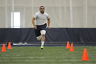 Mississippi football player Jeremiah Masoli at Pro Day in the IPF in Oxford, Miss. on Tuesday, March 22, 2011.