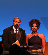 Denzel Washington and Pauletta Pearson Washington, recipients of The Frederick Patterson Award,  at The UNCF-The United Negro College Fund 64th Anniversary Dinner honoring Denzel and Pauletta Washington with the prestigious Frederick D. Patterson Award for their philanthropic efforts to support minority education and historical black colleges and universities (HBCUs) held at Sheraton New York Hotel & Towers on March 7, 2008
