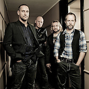 Promotional portrait of 'Beecake', actor Billy Boyd's band.