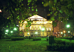 BUENOS AIRES, ARGENTINA: The Colon Theatre, or known in Argentina as the Teatro Colo?n, a famous opera house in Buenos Aires, Argentina.  (Photo by Ami Vitale)