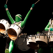 OREM, UTAH: UVU's The Green Man Group perform for High School students at the end of the 12th Annual Leadership Conference at Utah Valley University in Orem, Utah Oct. 4, 2011. (August Miller/UVU)