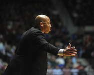 "Ole Miss vs. Mississippi State head coach Rick Ray at the C.M. ""Tad"" Smith Coliseum on Wednesday, February 6, 2013. (AP Photo/Oxford Eagle, Bruce Newman).."