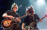 The Goo Goo Dolls onstage performing at the United We Stand: What More Can I Give? Concert a music benefit in the Nation's Capital to raise money in support of the recovery efforts from the September 11th attacks on America. The proceeds will go to various relief funds.  October 21, 2001 (Photo: Jeff Snyder)