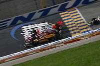 Bryan Herta, Dan Wheldon, Sam Hornish Jr., Meijer Indy 300, Kentucky Speedway, Sparta, KY USA, 8/13/2006