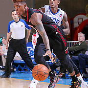 Sioux Falls Skyforce Forward Fuquan Edwin (17) dribbles the ball Delaware 87ers Guard Jamal Jones (22) in the Second half of a NBA D-league regular season basketball game between the Delaware 87ers and the Sioux Falls Skyforce (Miami Heat) Tuesday, Jan. 27, 2015 at The Bob Carpenter Sports Convocation Center in Newark, DEL