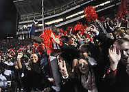 Mississippi wide receiver Collins Moore (16) celebrates with fans following a win over LSU at Vaught-Hemingway Stadium in Oxford, Miss. on Saturday, October 19, 2013. Mississippi won 27-24. (AP Photo/Oxford Eagle, Bruce Newman)