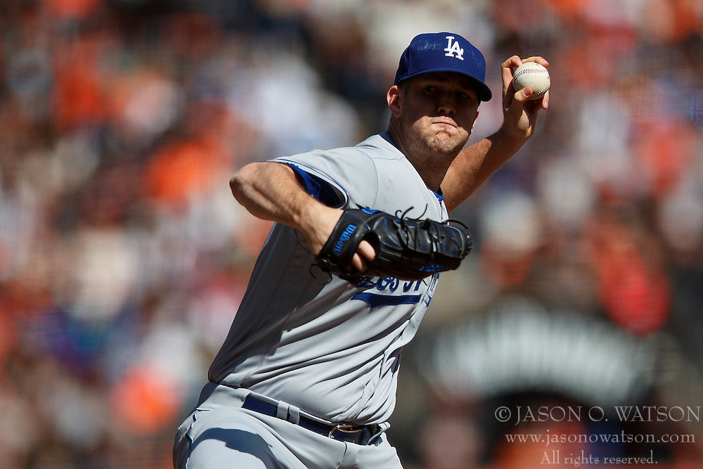 SAN FRANCISCO, CA - OCTOBER 02: Alex Wood #57 of the Los Angeles Dodgers pitches against the San Francisco Giants during the fifth inning at AT&T Park on October 2, 2016 in San Francisco, California. The San Francisco Giants defeated the Los Angeles Dodgers 7-1. (Photo by Jason O. Watson/Getty Images) *** Local Caption *** Alex Wood