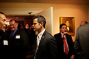 Freshman Congressman Adam Kinzinger, 32, (Republican, Illinois) mingles with supporters in The Capital Hill Club after being sworn in to office at the United States Capital in Washington, DC on Wednesday, January 5, 2011. He will be a member of the 112th Congress, and represents the 11th Congressional District.