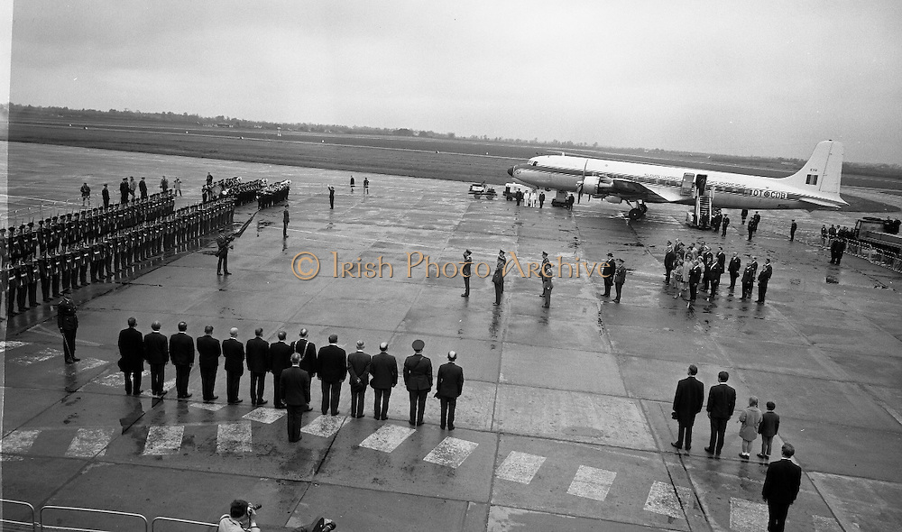 Belgian Royal Visit - King Badouin and Queen Fabiola arrived at Dublin Airport on a three-day state visit. .14.05.1968