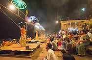 A dusk puja (a Hindu religious ritual of worship), where  light is offered to one or more deitiesdispels darkness,  this perfomance dates back to the Vedic time (circa 2000 BCE).