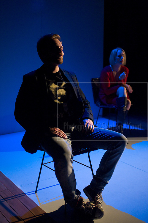 Wellington, NZ. 20.03.2013. MIKE AND VIRGINIA by Kathryn Burnett & Nick Ward. Directed by: Kerryn Palmer. Opens at Circa Two. 23 March to 20 April. Cast: Gentiane Lupi (Virginia), Will Hall (Mike), Jennifer Martin, Stephen Papps and Perry Piercy. Photo credit: Stephen A'Court.  COPYRIGHT ©Stephen A'Court