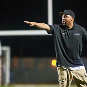St. Georges Hawks Head Coach J.D. Maull instructs his players from the sidelines during a week one DIAA game between  William Penn and St. Georges, Friday, Sept. 09, 2016 at CARAVEL Academy in Bear, DE.