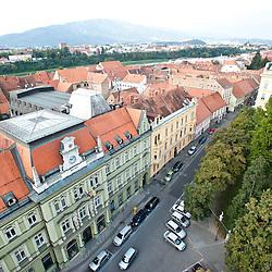 Vista di Maribor dalla torre panoramica della Chiesa Stolnica