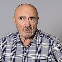 Photo session with musician Phil Collins in February 2016, Warner Music, London.