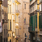 Shutters and apartment windows of Via di Proconsolo, Florence, Italy