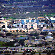Aerial photograph of the Cotton Bowl Stadium in Dallas, Texas