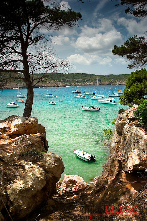 Algaiarens beach in La Vall.<br /> Ciudadela , Minorca, Balearic Islands, Spain, Europe