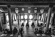Myanmar. Shwe Yan Pyay Monastery - monks at study.