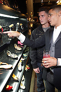 l to r: Shane Ward, and Donnie Klang at 'Spring on Mulberry Block Party'  celebration for Shane and Shawn Shoes sponsored by Bombay Sapphire and  held at The Shane & Shawn Store in New York City on May 7, 2009