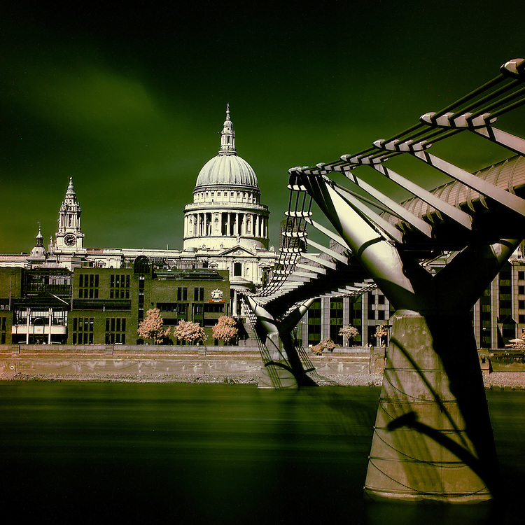 A classic view of St Pauls Cathedral and the Millenium Bridge taken from Bankside.<br /> <br /> David Henderson Photography Fine Art Print